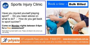 LCP sports injury clinic